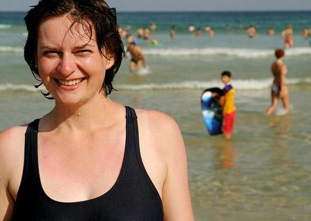 Happy Woman at Australian Beach