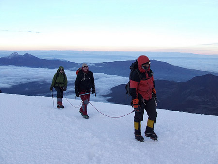 Mountaineers on Cotopaxi