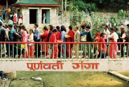 Queue at Dakshinkali Temple