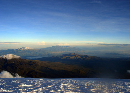 View of Quito from Cotopaxi