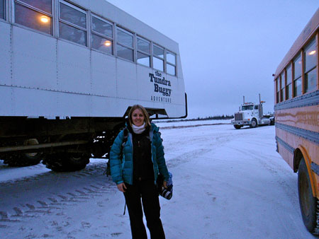 Woman in front of Tundra