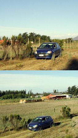 Yaris on Rural Road