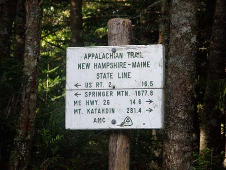 Appalachian Trail Maine State Line