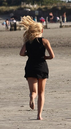 Little Black Dress on Beach