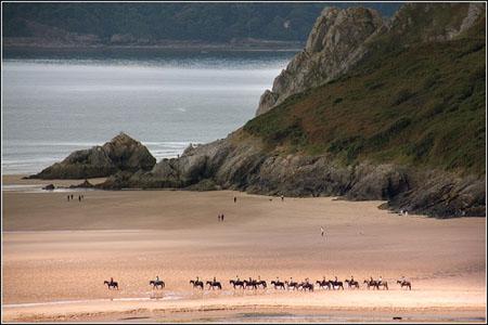 Pony Trekking at Three Cliffs Bay