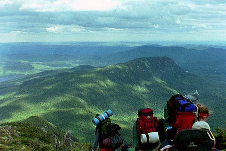 Three Hikers on the Appalachian Trail