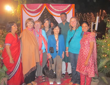 Group at Diwali Festival in India