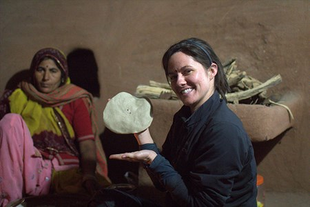 Making Chapati with Homestay Host