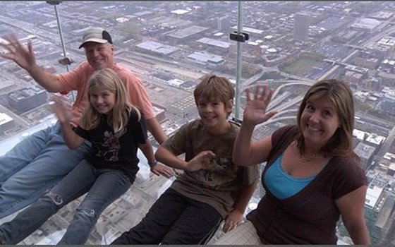 Family at Sears Tower