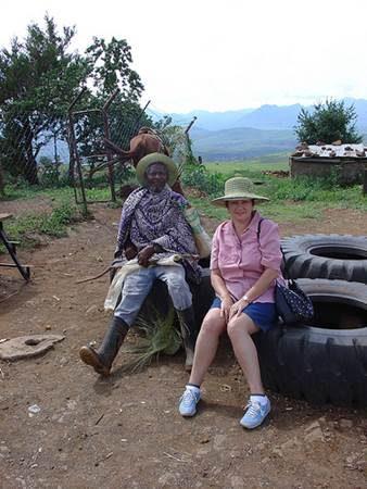 Tourist with Lesotho Local