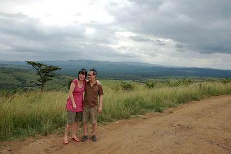 Couple at Hluhluwe Imfolozi Game Reserve
