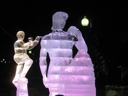 Michelangelo Ice Sculpture