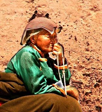 Elderly Tibetan Woman