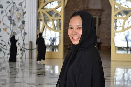 Girl Wearing an Abaya