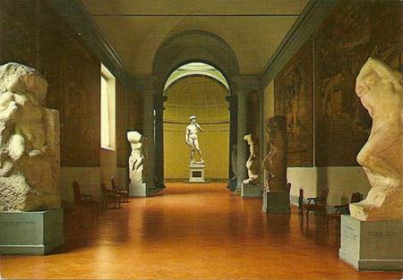 Michelangelo's unfinished Prisoners and David