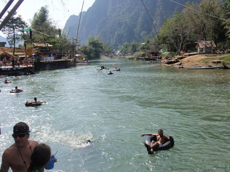 Nam Song River Tubing