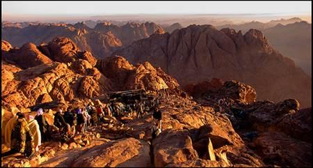 Pilgrims Descend Sinai