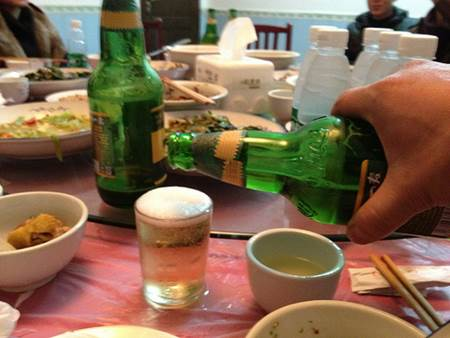 Pouring Drinks in China