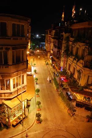 Sultanahmet Street at Night