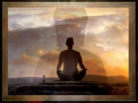 Woman and Buddha