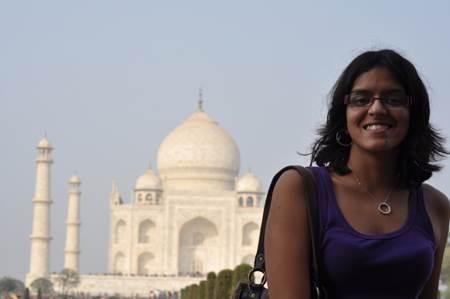 Woman at Taj Mahal