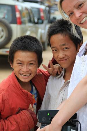 Woman with Lao Boys