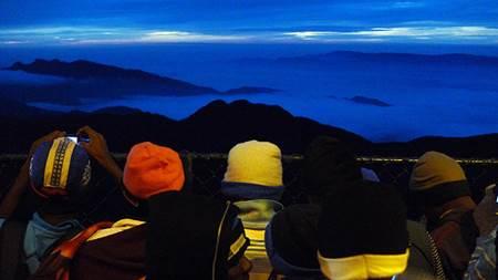 Pilgrims on Top of Adam's Peak