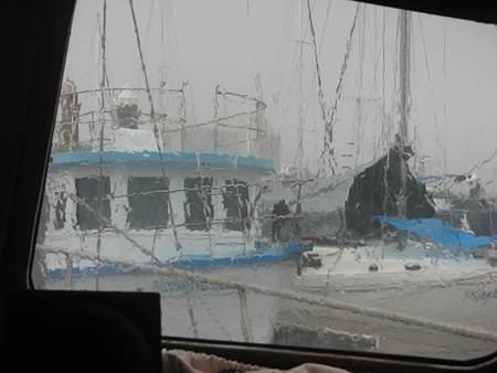 Rain on Yacht