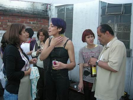 Socializing during Asado