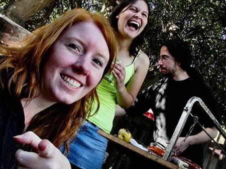 Women Enjoying Chilean Asado