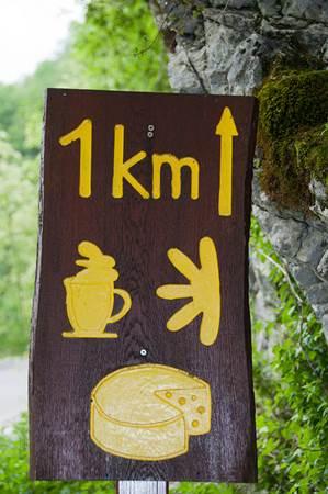 1 km Sign