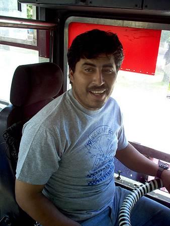 Guatemala Bus Driver