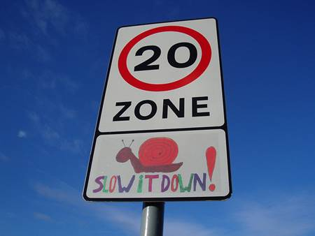 Slow Zone Sign