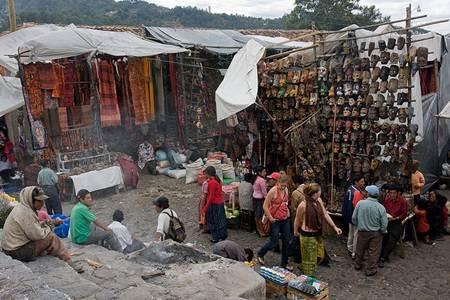 Tourists in Chichicastenango Market