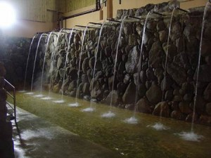 Hyotan Onsen Waterfalls