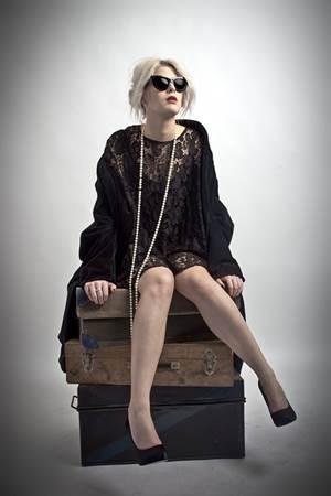 Dressed Up Woman Traveler