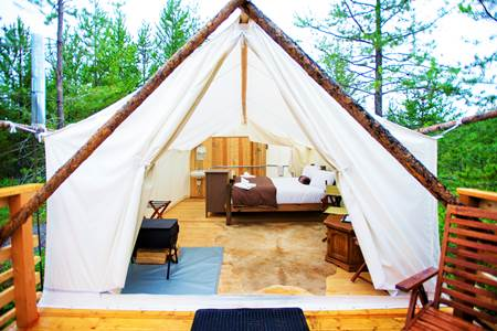 Gl&ing Glacier Under Canvas & Glamping Destinations - Top Luxury Camping Locations