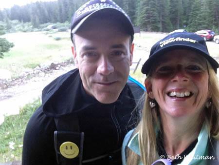 Beth and Jon Hiking Colorado