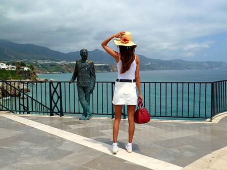 Woman Tourist in Spain