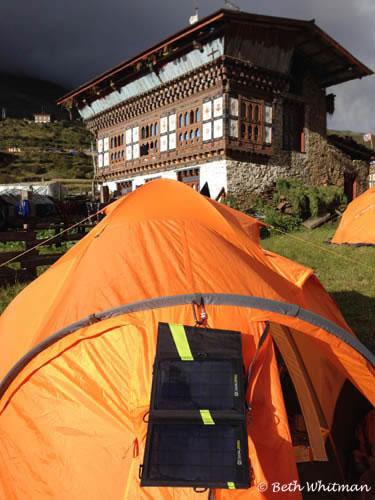Goal Zero on Tent Snowman Trek