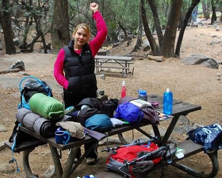 Trekker at Camp