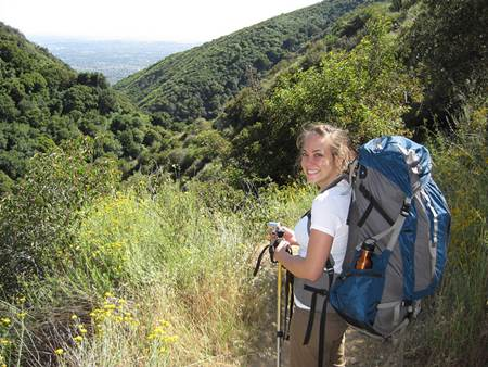 Woman Trekker with Pack