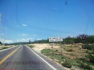 Cabo San Lucas Road Sign