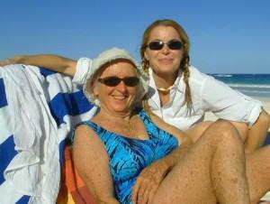 Chandi Wyatt and mother