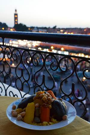 Dinner with view of Marrakech