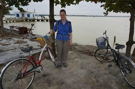 Tourist with Bike