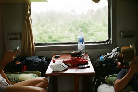 Vietnam Train Cabin
