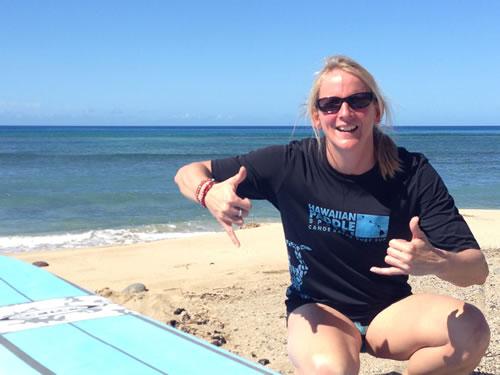 Beth Whitman Surfing