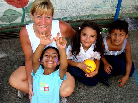 Woman with Costa Rican Children