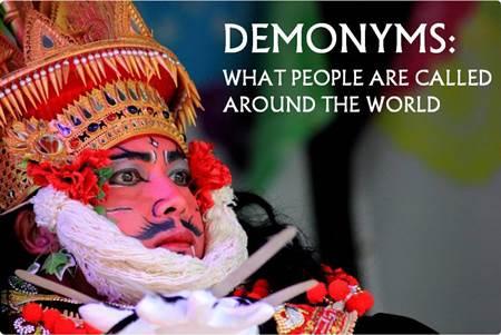 Demonyms from around the World
